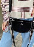 Женская замшевая сумка двойная polina&eiterou черная, фото 5
