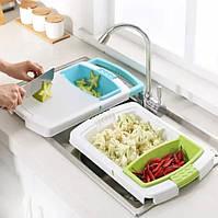 Кухонная разделочная доска на раковину Dish washing | Разделочная доска на мойку | Доска для кухни