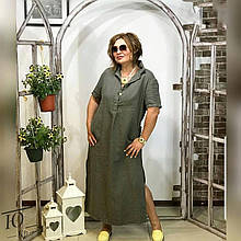 Льняное платье большого размера, Женское льняное длинное платье, Длинное льняное платье Большого размера.