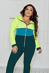Спортивный костюм женский Большого размера, Женский спортивный костюм