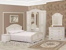 Спальня Луиза 5Д (белое дерево-патина)