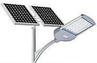 Фонарь уличного освещения светодиодный 30 Вт с солнечной батареей 160Вт