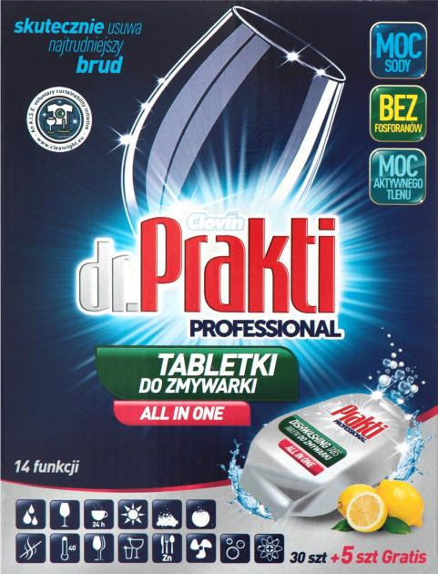 Таблетки для посудомоечных машин dr. Prakti 35 шт