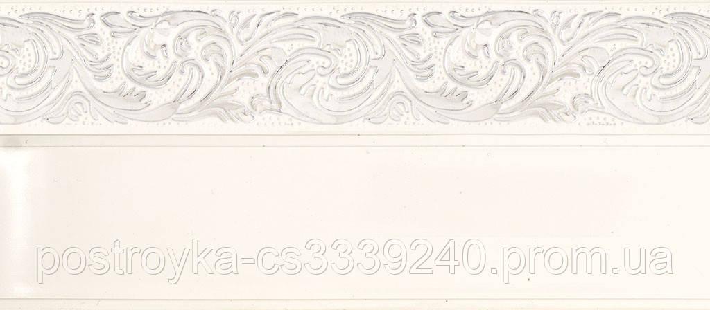 Лента декоративная на карниз, бленда Ажур 4 Хром 70 мм на усиленный потолочный карниз КСМ