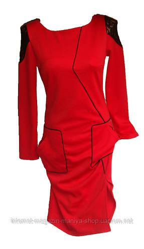 Женское платье трикотаж 4 цвета
