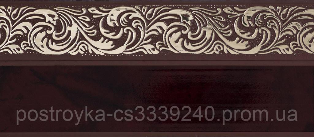 Лента декоративная на карниз, бленда Ажур 4 Махагон 70 мм на усиленный потолочный карниз КСМ