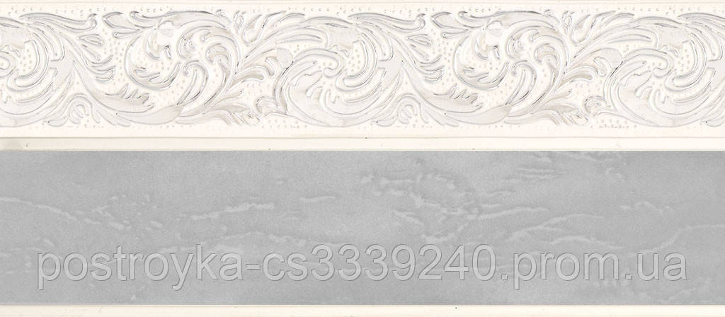 Лента декоративная на карниз, бленда Ажур 4 Мрамор хром 70 мм на усиленный потолочный карниз КСМ
