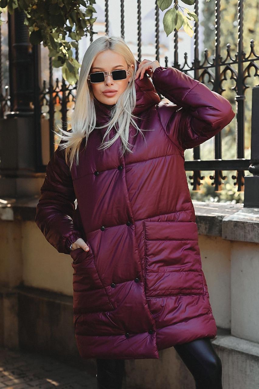 Куртка теплая плащевая женская  на синтепоне 250, три цвета