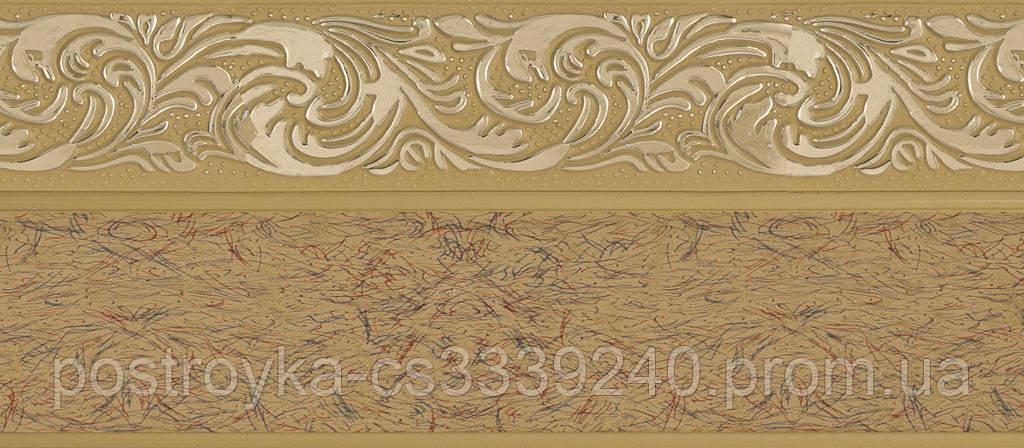 Лента декоративная на карниз, бленда Ажур 4 Песок 70 мм на усиленный потолочный карниз КСМ
