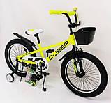 D-JEEP 20 дюймов Детский велосипед на широких колесах ( полу фэт-байк)  от 8 лет салатовый Сборка 85%, фото 2