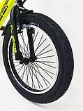 D-JEEP 20 дюймов Детский велосипед на широких колесах ( полу фэт-байк)  от 8 лет салатовый Сборка 85%, фото 3