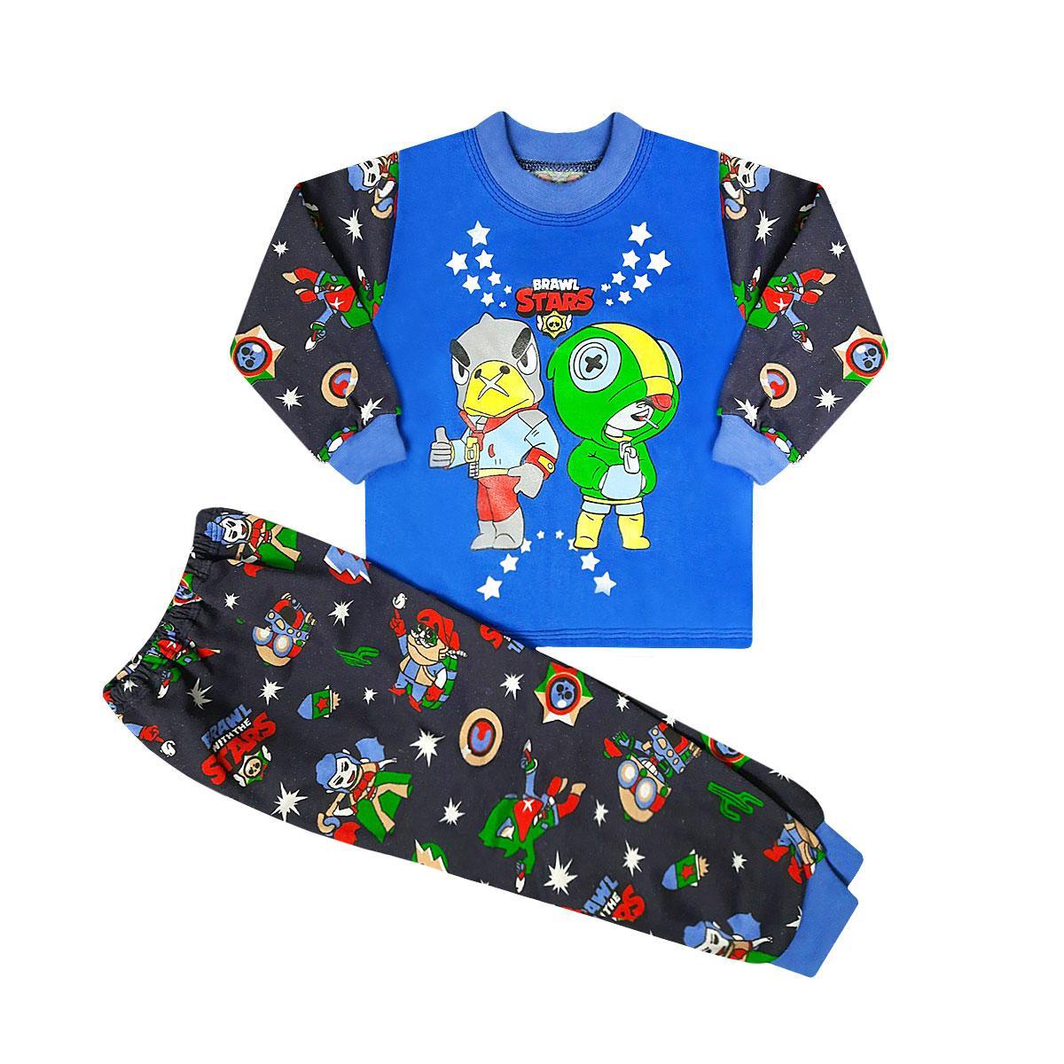 Детская пижама для мальчика Brawl stars начес