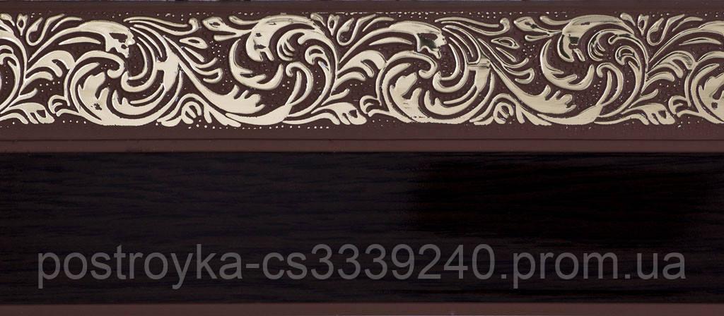 Лента декоративная на карниз, бленда Ажур 4 Венге 70 мм на усиленный потолочный карниз КСМ