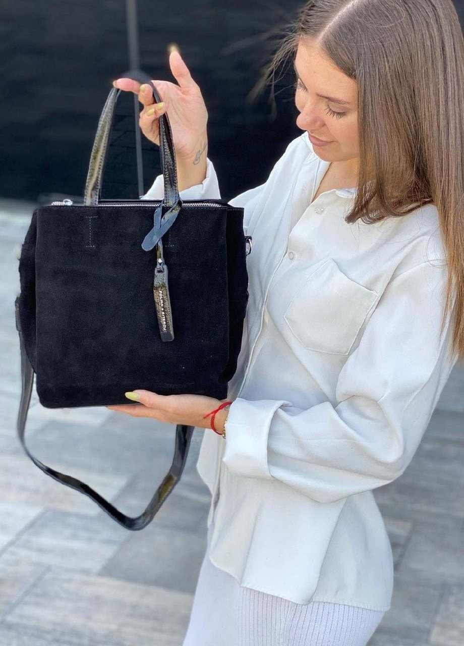 Женская замшевая сумка polina&eiterou