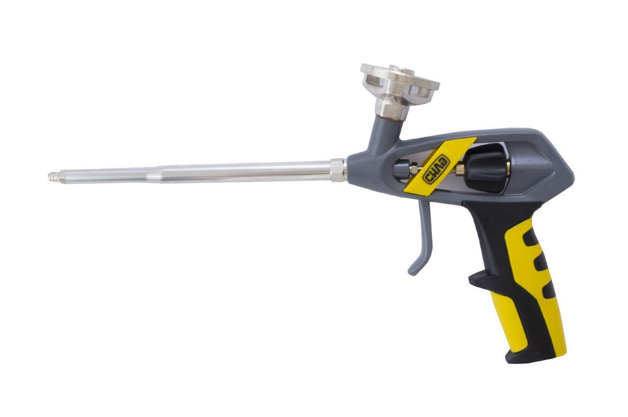 Пистолет для пены Сила - 335 мм никель мастер 1 шт.