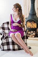 Ночная рубашка для беременных и кормящих PURPLE 24143, Мамин дом, фото 1