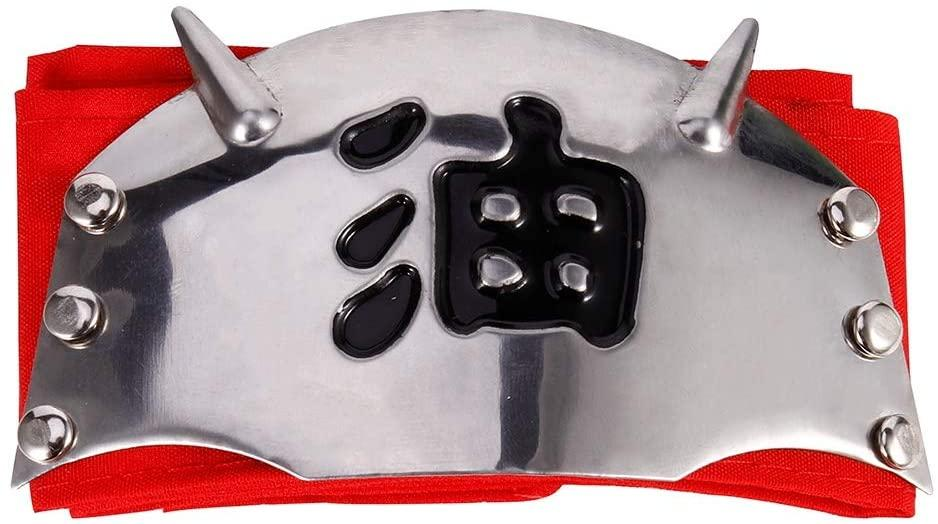 Повязка (красный налобный протектор), Джирайя, с символикой горы Мьёобоку - Naruto, Cosplay