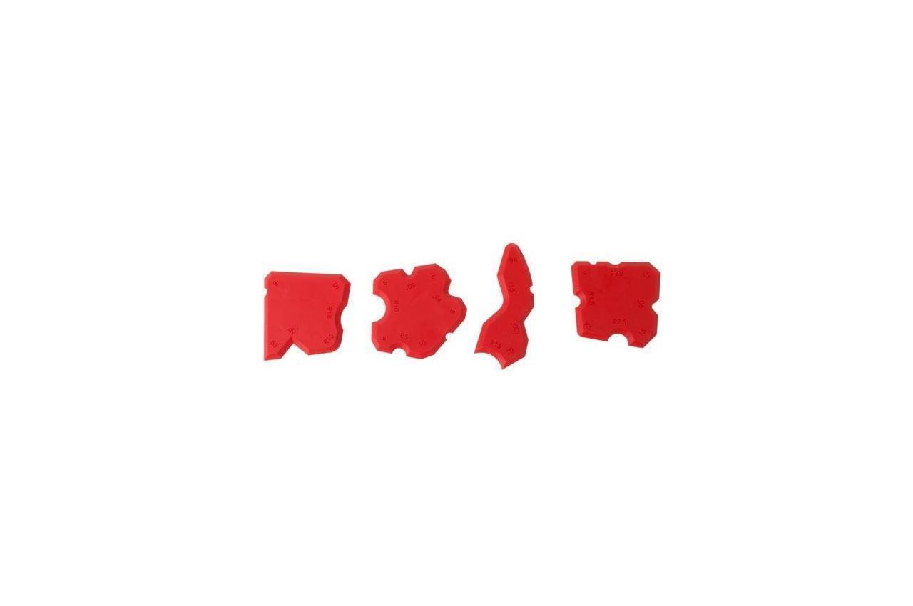 Набор резиновых шпателей Intertool - для силикона (4 шт.) 1 шт.