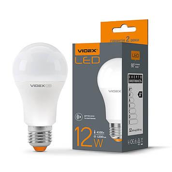 LED лампа VIDEX A60e 12W E27 4100K с сенсором движения
