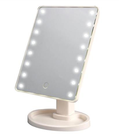 Зеркало настольное косметическое с подсветкой 16 LED MIRROR USB