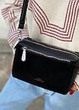 Женская замшевая сумка polina&eiterou черная, фото 3