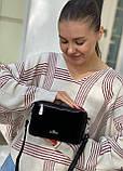 Женская замшевая сумка polina&eiterou черная, фото 6