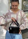 Женская замшевая сумка polina&eiterou черная, фото 7