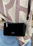 Женская замшевая сумка polina&eiterou черная, фото 5