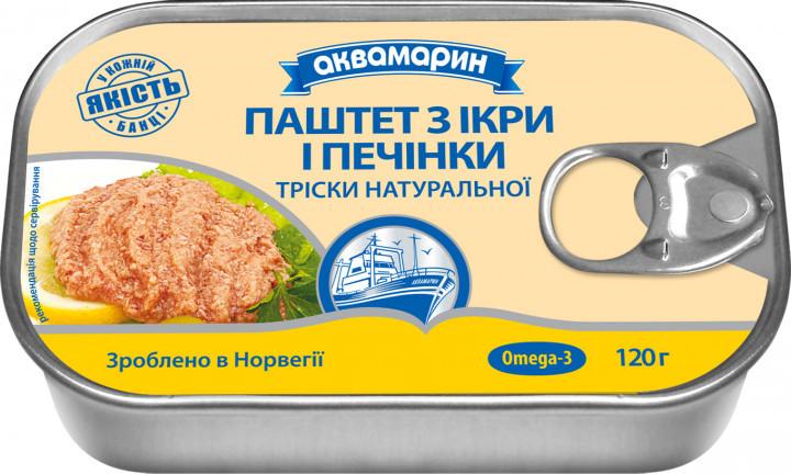 Паштет Тріски натуральна 120 грам