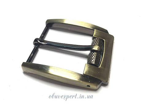 Пряжка ременная с барашком 40 мм  Тертый антик, фото 2