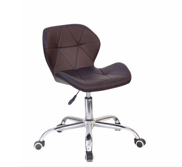 Кресло мастера на колесиках Invar Office (Инвар) ЭкоКожа коричневый