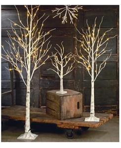 """Новогоднее декоративное дерево-гирлянда """"Береза"""" 160 см 96 Led IP 44  (ТЕПЛЫЙ БЕЛЫЙ)"""