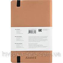 Книга записная Axent Partner Soft 8206-35-A, 125х195 мм, клетка, золотая, фото 3
