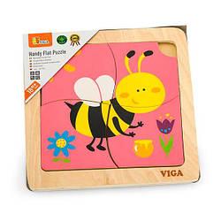 Деревянный мини-пазл Viga Toys Пчелка, 4 эл. (50138)