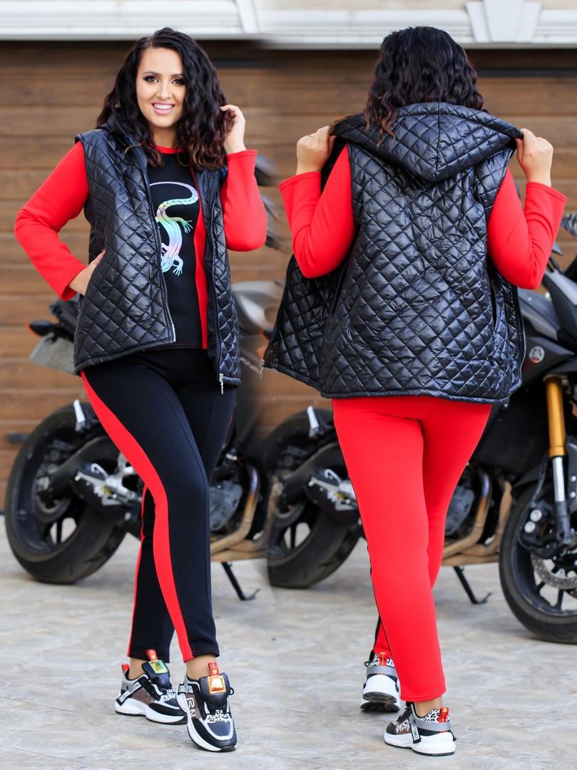 Спортивный костюм Трехнитка на флисе размеры: 42, 44, 46, 48, 50, 52, 54