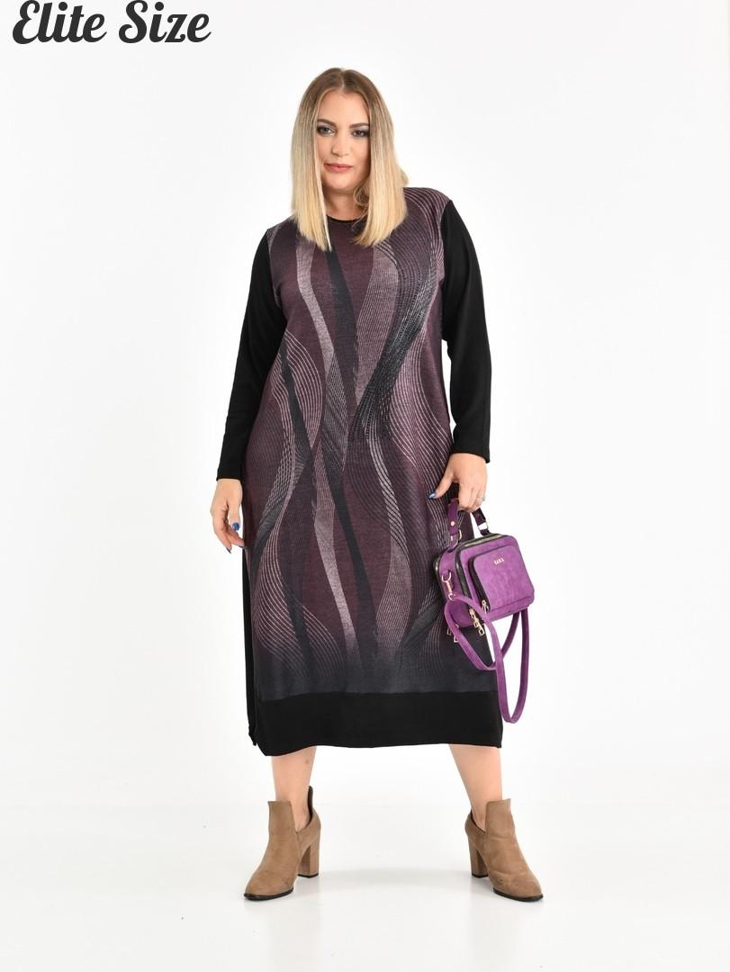 Турецкое женское трикотажное платье Размеры: 56,58,60