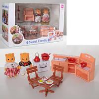 Набор мебели Кухня с фигурками Sweet family