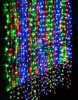Светодиодная Гирлянда Водопад 300 LED В 2 х 2м в Ассортименте, фото 1