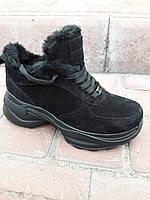 Женские зимние кроссовки из натуральной замши. Жіночі зимові кросівки.