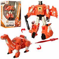 Трансформер робот-динозавр, трансформер большой 17 см, H8012-6 TF Оранжевый