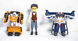 Набор фигурок Тобот, 2 машинки-трансформера+ герой мультфильма,  339-15