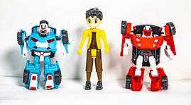 Набор фигурок Тобот, 2 машинки-трансформера+ герой мультфильма,  339-18