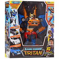 Тобот Трансформер Тритан, робот+машинки, высота 35 см