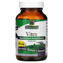 """Витекс Nature's Answer """"Vitex"""" авраамово дерево, 40 мг (90 капсул)"""