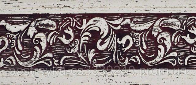 Лента декоративная на карниз, бленда Богемия 02 Антик серебро  70 мм на усиленный потолочный карниз КСМ
