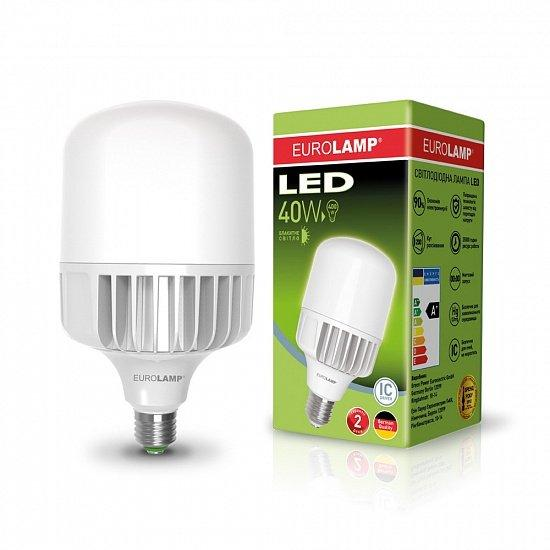 Лампа светодиодная промышленная EUROLAMP 40W E40 6500K (LED-HP-40406)