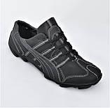 Кожаные Мокасины Мужские Кроссовки Черные Туфли (размеры: 40,41,42,43,44,45), фото 4