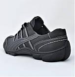 Кожаные Мокасины Мужские Кроссовки Черные Туфли (размеры: 40,41,42,43,44,45), фото 6