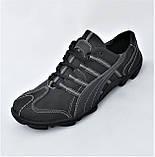 Кожаные Мокасины Мужские Кроссовки Черные Туфли (размеры: 40,41,42,43,44,45), фото 7