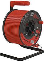 Удлинитель на катушке Emos P092251 25м с выключателем 1,5 мм 3680W Оранжевый